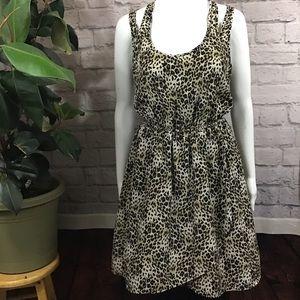 🍰 SALE! 3/$20 Animal print cut-out large dress